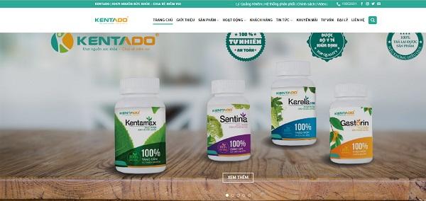 Quét mã QR phần mềm sẽ chuyển trang chủ Kentado.com