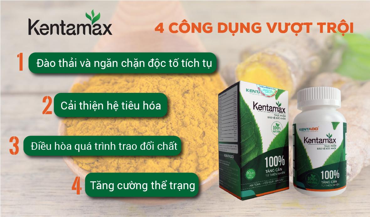 Công dụng tăng cân của Kentamax