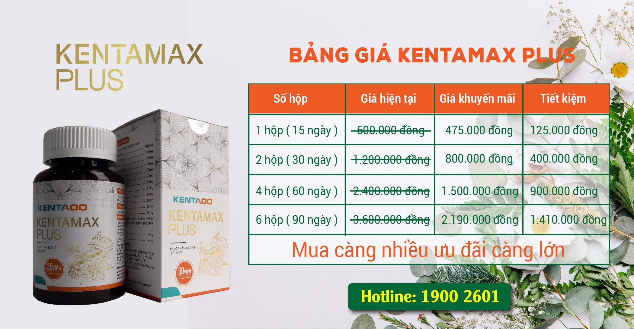 Bảng giá sản phẩm Kentamax Plus
