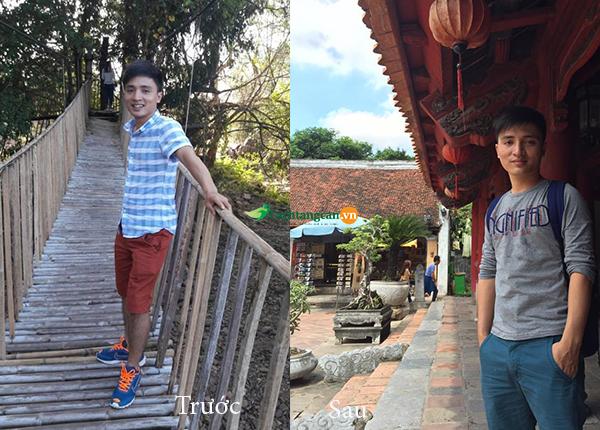Anh Dũng trước và sau khi dùng thuốc tăng cân Kentamax