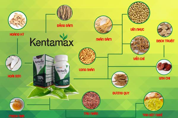 Thành phần của sản phẩm hỗ trợ tăng cân Kentamax