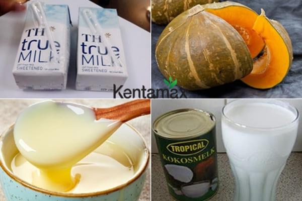 Nguyên liệu làm sữa bí đỏ giúp tăng cân hiệu quả