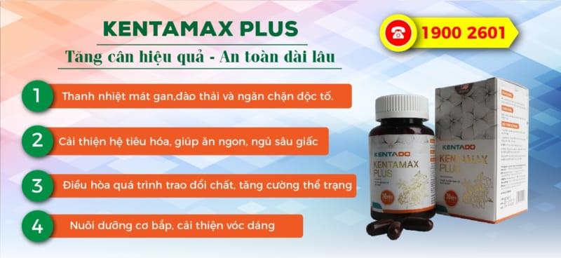 Kentamax Plus – Thực phẩm hỗ trợ tăng cân