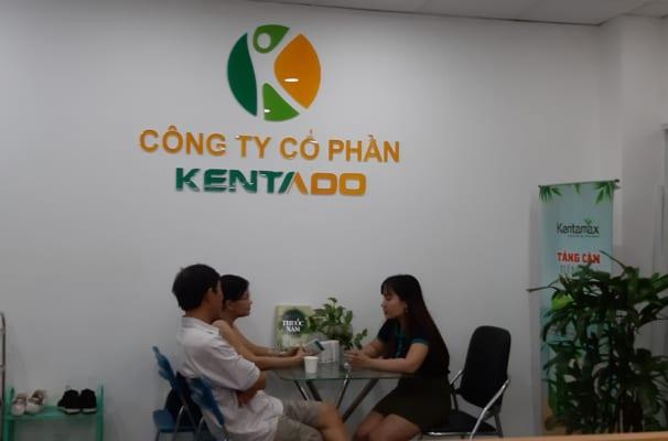 Cô Liên và chú Khanh đến Kentado mua thuốc tăng cân Kentamax Plus