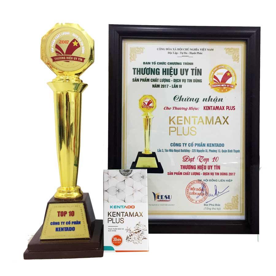 Giải thưởng dành cho những đóng góp của Kentamax Plus